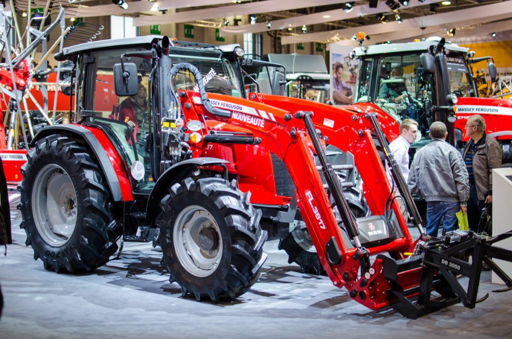 Massey Ferguson showcased the 4707 with a Visio roof at SIMA 2017
