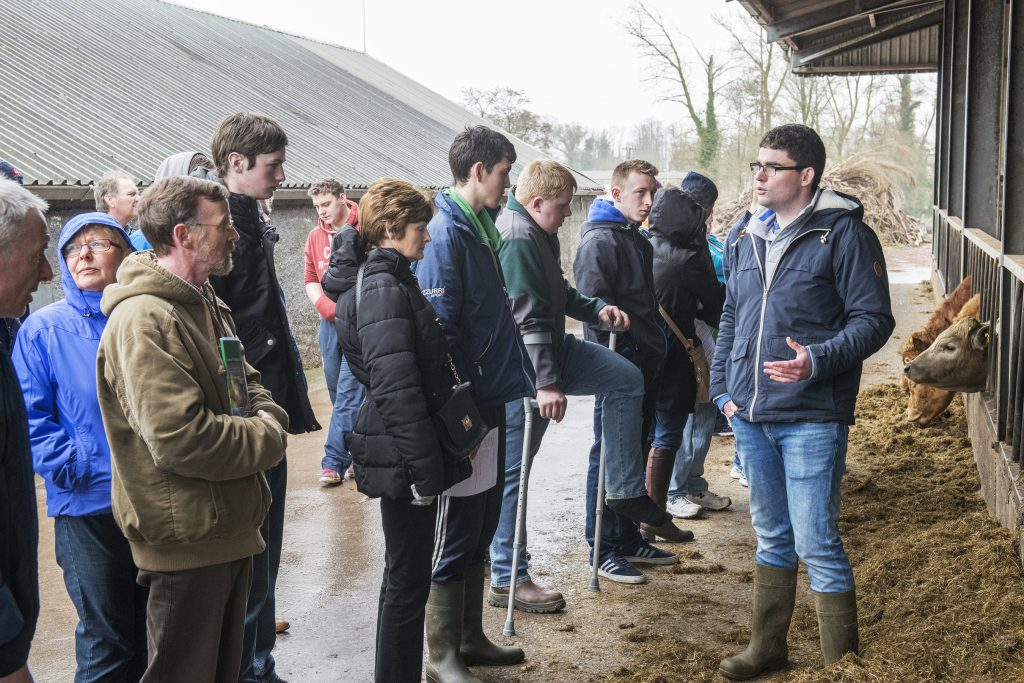 Vincent Crowe addresses a group at a careers open day in Pallaskenry Agricultural College. Photo O'Gorman Photography.