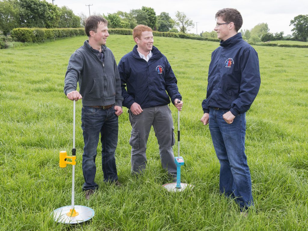 Shane Ryan, College Lecturer, Gerard Dunne, Kilkenny and Robert Horan, Ballingarry are pictured at a Teagasc dairy certificate student event. Photo O'Gorman Photography.