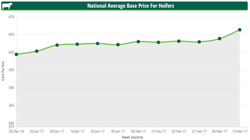 national average base price for heifers
