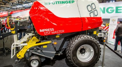 SIMA 2017: 'Pull-out' knife-bank for Pottinger's new round balers