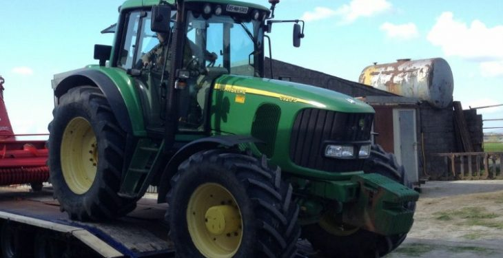 Reward offered for John Deere tractor stolen in Co. Carlow