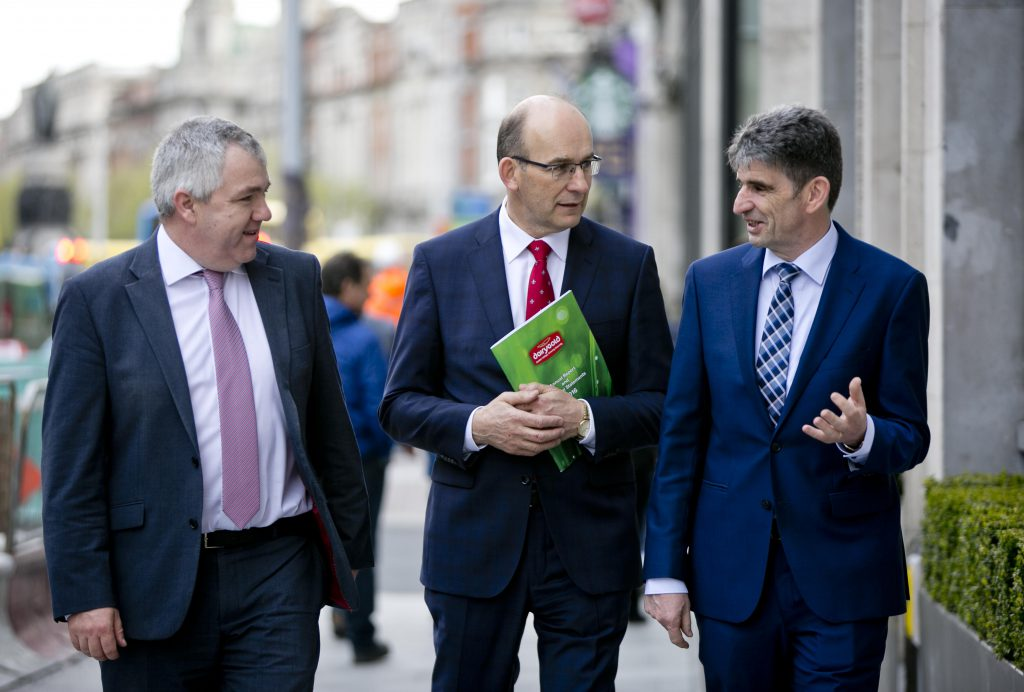 Pictured are James Lynch, Chairman, Jim Woulfe CEO and Michael Harte, CFO. Photo Fennell Photography