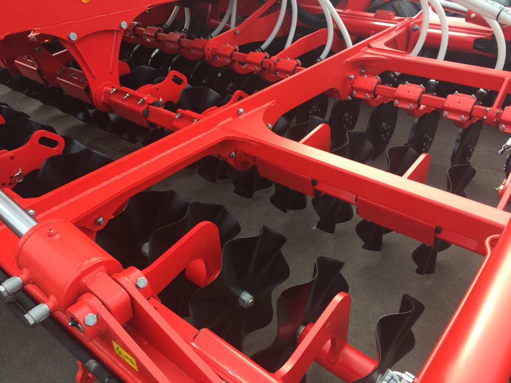 The 'wave discs' can feature on Pottinger's range of Terrasem seed drills