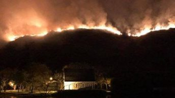 Pics: Over 30 firefighters battle gorse fire blaze in Co. Cork