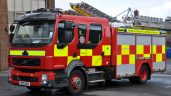 Pic: Contractor's loading shovel goes up in flames