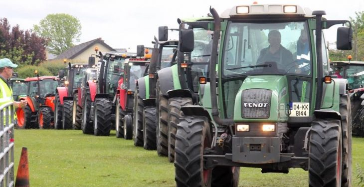 Young farmers organise tractor run in aid of Pieta House
