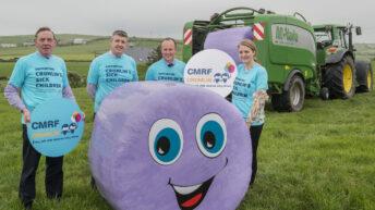 Silage fields 'go purple' for Crumlin Children's Hospital