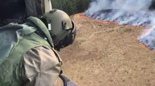 Out Of Control Fire In Ireland's Biggest Forest
