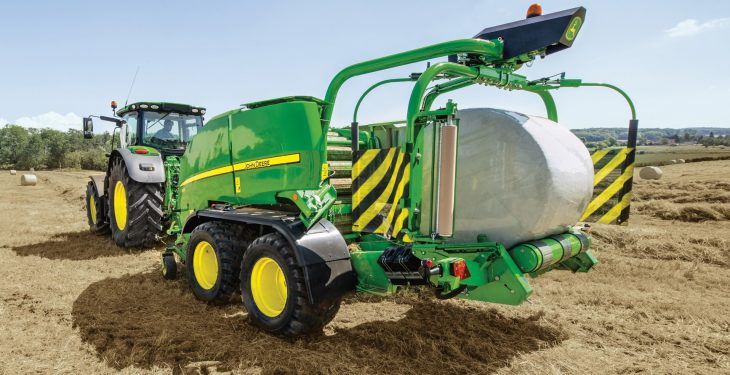 Faster baler-wrappers and 'intelligent' slurry spreading from Deere