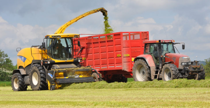 Penalty points and fine for tractor driver caught using his mobile phone