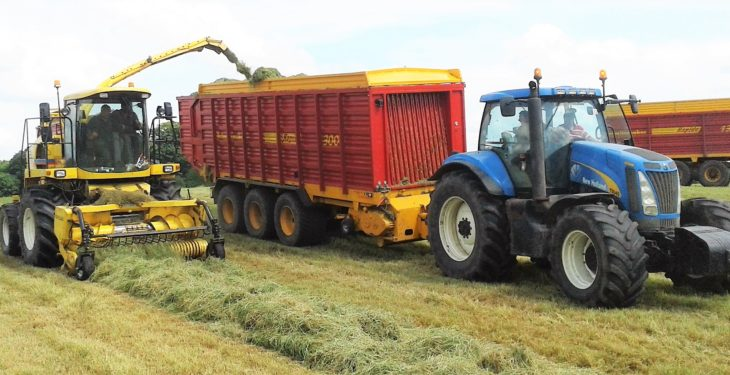 Pics: Army of wagons and a truck tackle silage in the midlands