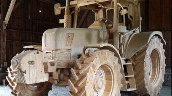 Pics: Fancy a fine-grained 'New Holland' – made of wood?