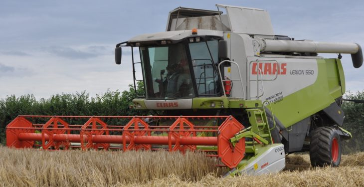 How much are contractors charging for harvesting cereals?