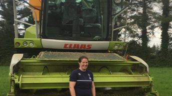 Waterford woman gears up harvester for silage event