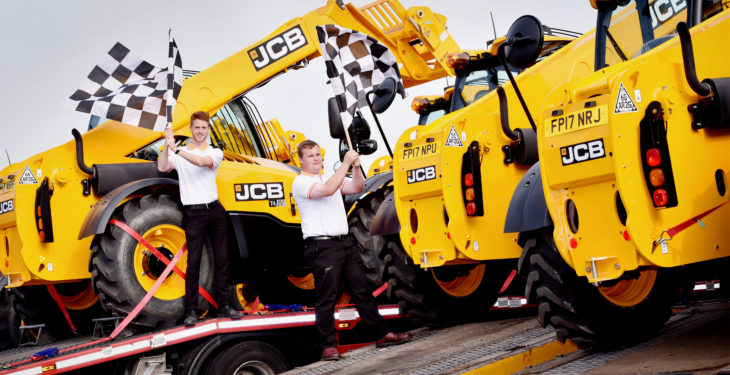 JCB machines drafted in for British Grand Prix