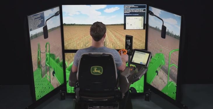 Video: John Deere combine simulator offers 'real-world' training