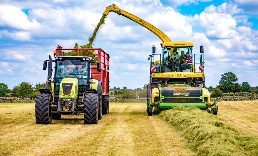 Kennedy Kennedys silage contractor, silage contractors in the North will not be affected by the new Tractor MOT rules