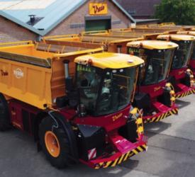 Vredo Trac spreader fleet en route to UK customers