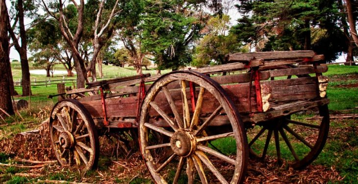 Old farm machinery display set for Durrow Scarecrow Festival