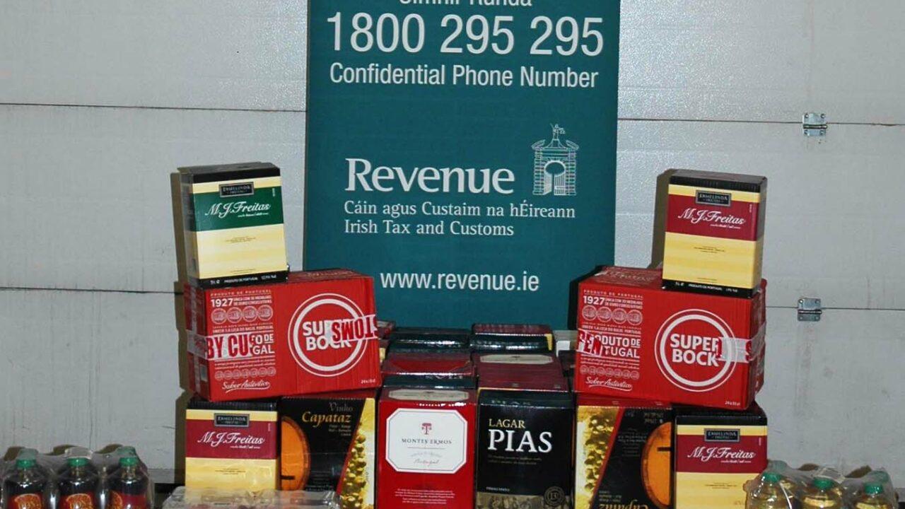Revenue seizes large quantity of smuggled alcohol