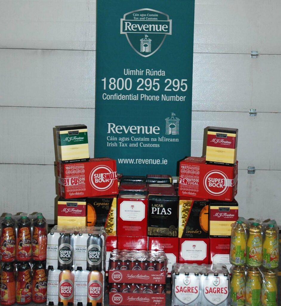 Revenue seizes large quantity of smuggled alcohol - Agriland ie