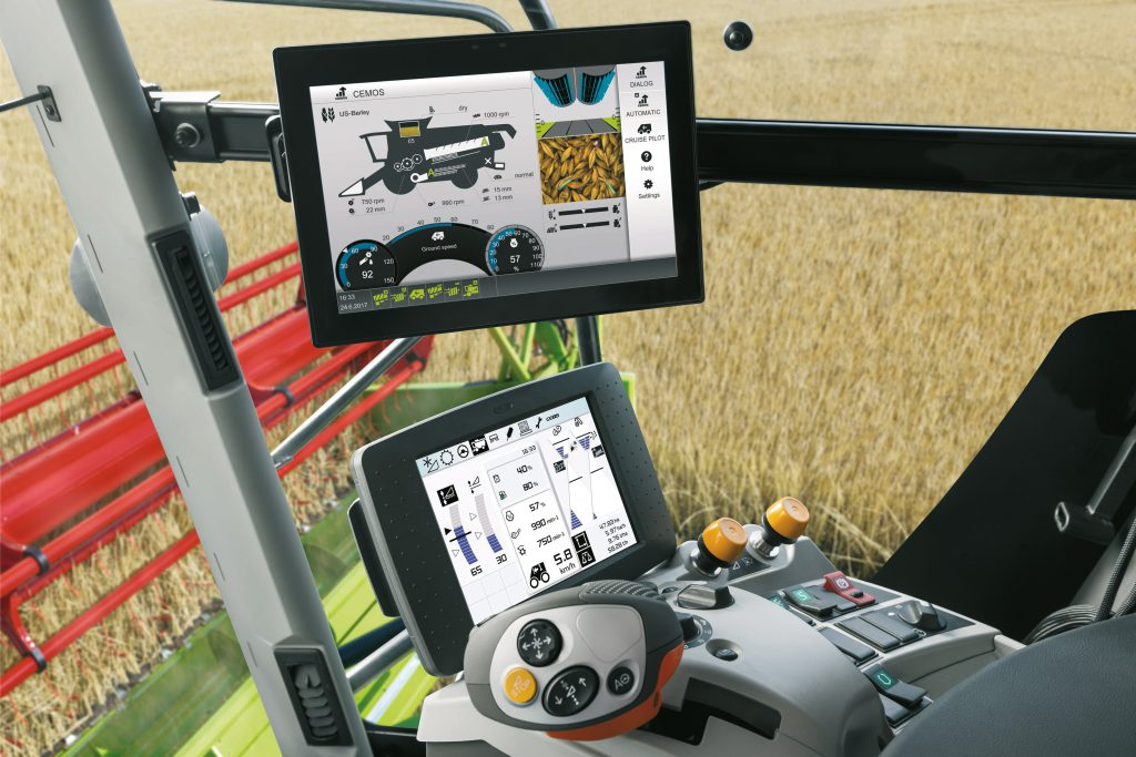 New 'bells and whistles' touch-screen for Claas Lexion - Agriland ie