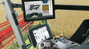 New 'bells and whistles' touch-screen for Claas Lexion