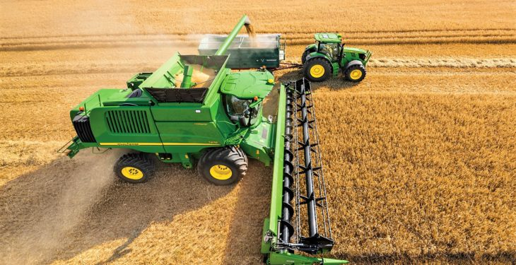 'Machine Sync': Letting the combine driver 'control' the tractor and trailer