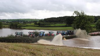 Pics: Farmers and contractors pull together to help flood-hit areas