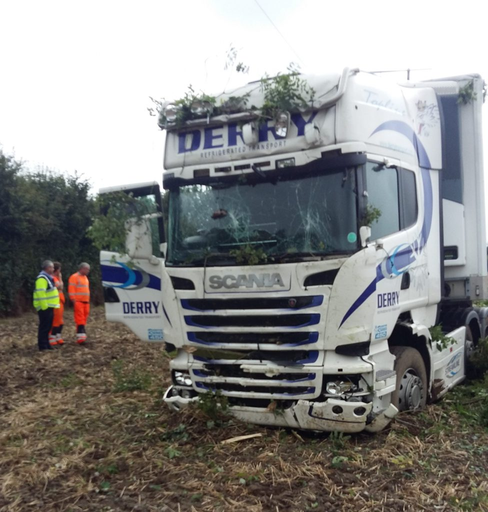 lorry, crash