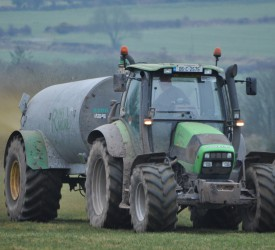 Teen hospitalised after crash involving tractor and slurry tanker