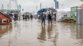 Stands flooded as rain pours down on the 'Ploughing' 2017