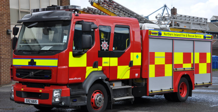 Fire in Roscommon tackled by emergency services during Storm Brendan