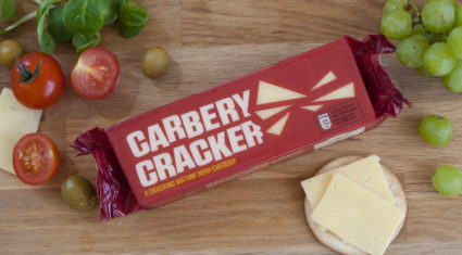 Cheese comp 'crackers' for Carbery cheddar