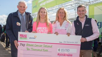 €10,000 raised for Breast Cancer Ireland though Glanbia's #PinkBales campaign