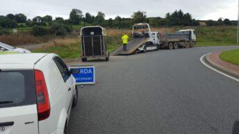 Gardai seize horsebox: No safety chain and defective tyres
