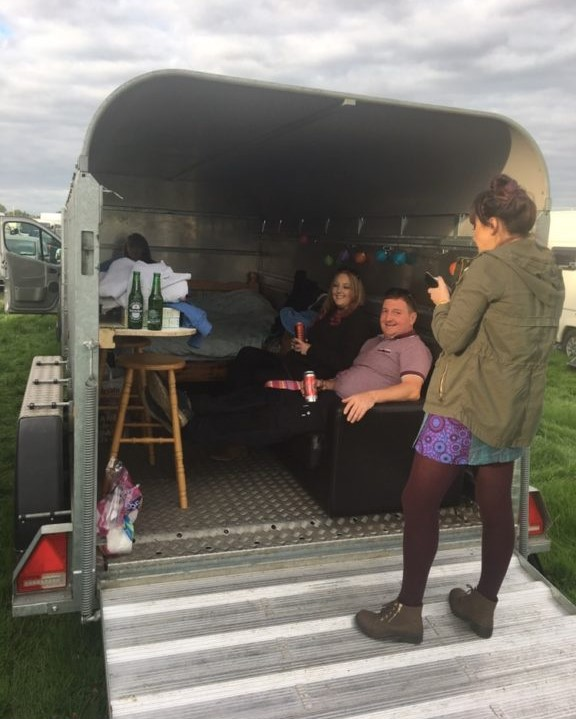Cattle trailer provided creature comforts at Electric Picnic