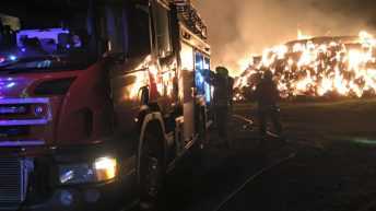Pics: 6,000t of baled straw goes up in flames in the UK