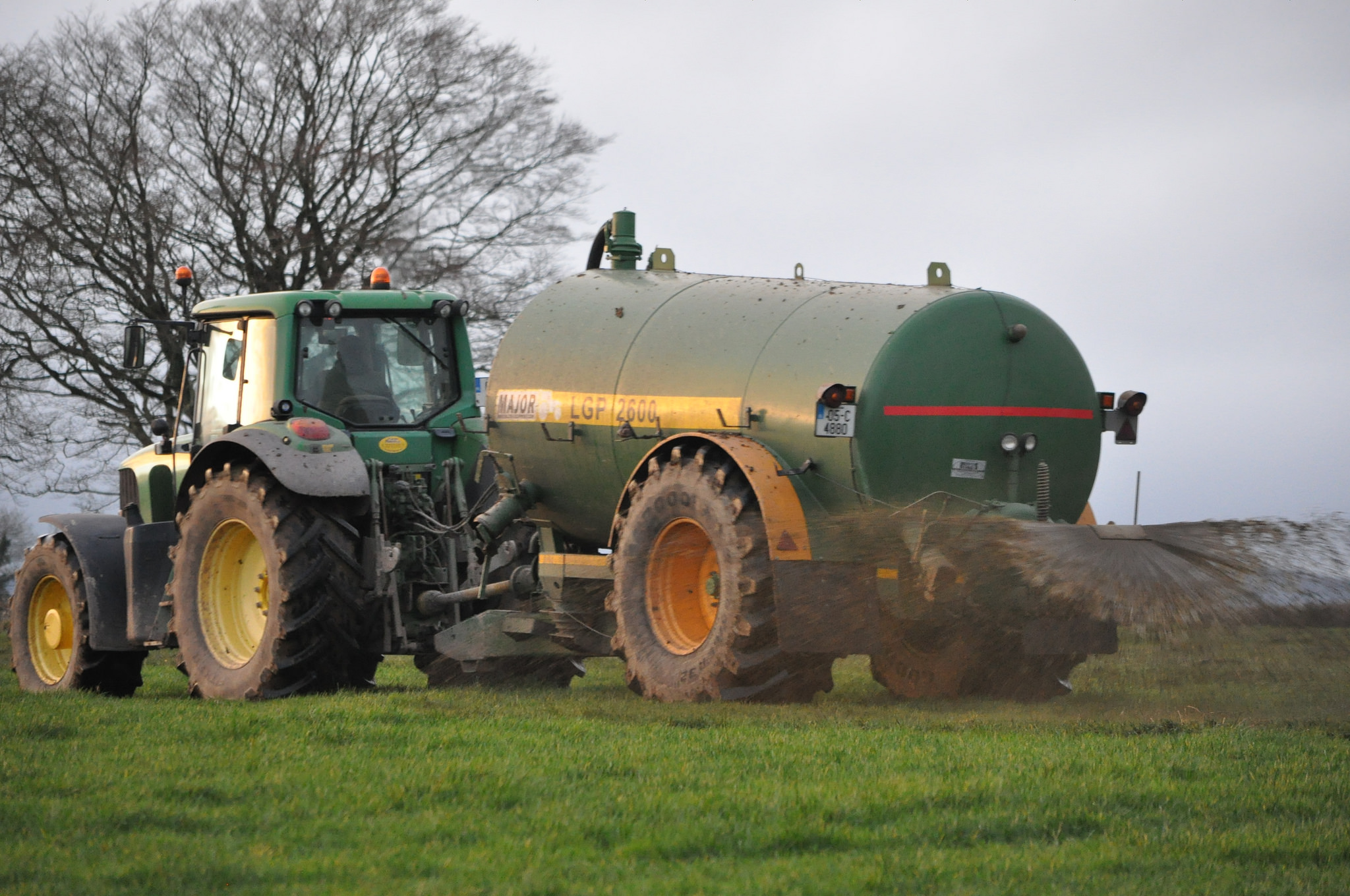 Slurry nitrates derogation, ammonia spreading slurry