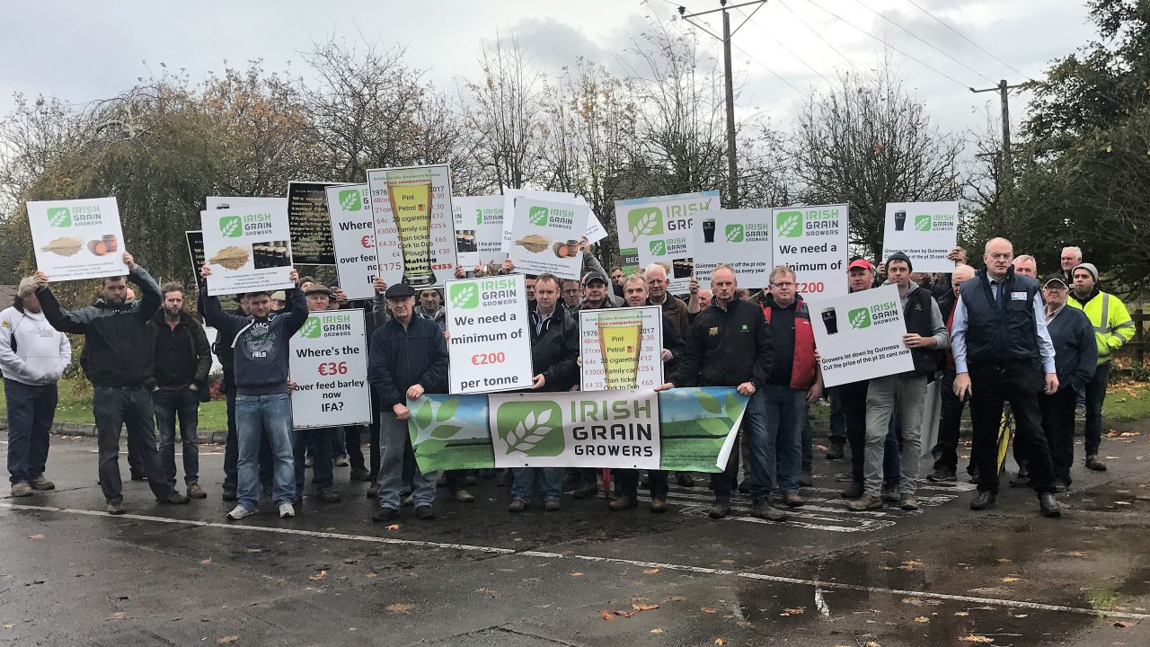 Grain growers to demonstrate outside Guinness again