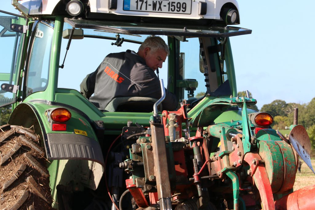 Martin Kehoe from Co. Wexford at the NI International Ploughing Championship
