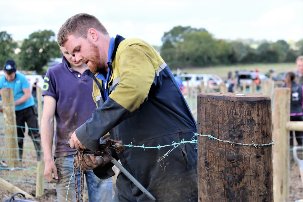 YFCU fencing competition at the Northern Ireland International Ploughing Championships