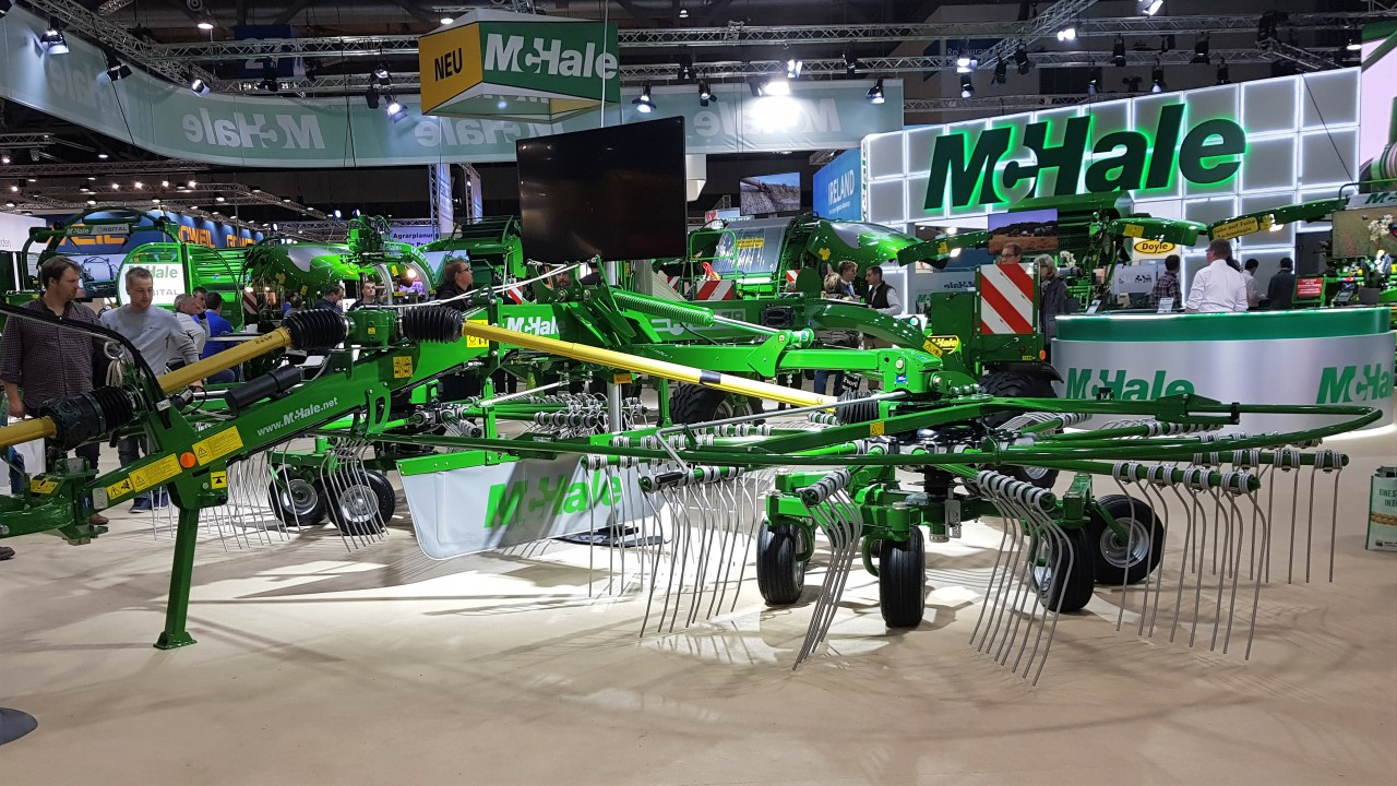 Pics: McHale adds another silage rake to its machine line-up
