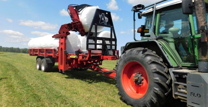 Video: Is this the best way to load and carry wrapped bales?