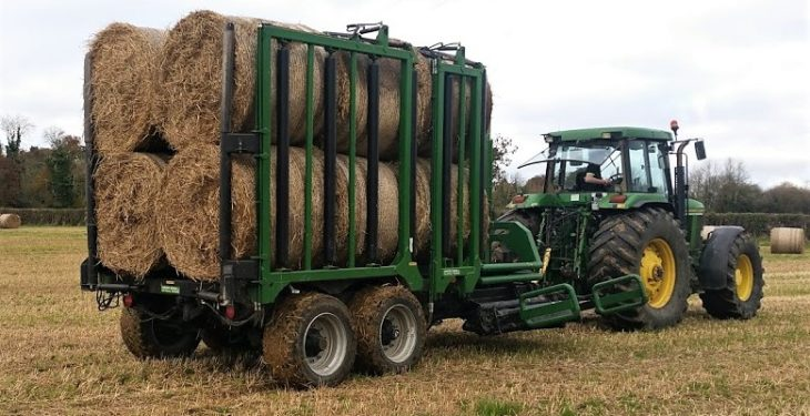 Disease for design: A Kilkenny man and his 'clever' bale collecting trailer