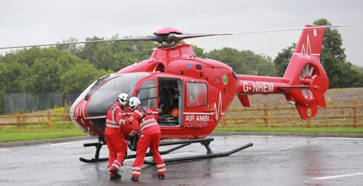 Father and son hospitalised following slurry accident