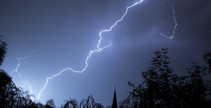 Warm but showery conditions forecasted, with lightning warning for today