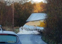 'Spilt milk': Truck containing milk powder jackknives on icy country road