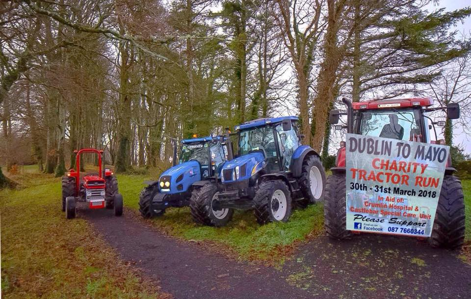 Dublin to Mayo charity tractor run